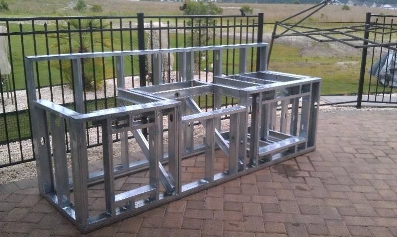 How To Build An Outdoor Kitchen My Parents Outdoor Kitchen Build Diy Outdoor Kitchen With Steel Studs Barbekyu Kuhni Na Otkrytom Vozduhe Gipsokarton