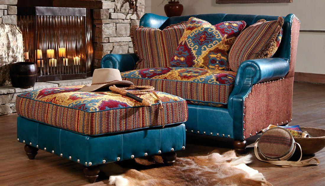 Merveilleux Santa Fe Style Chair U0026 Ottoman