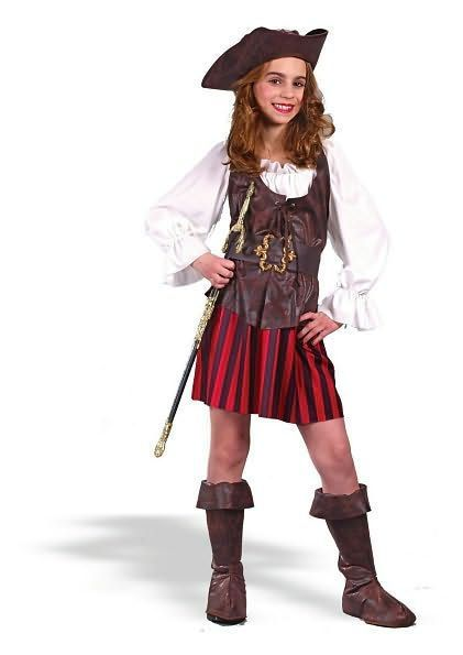 Girl High Seas Buccaneer Child Costume: Size Small