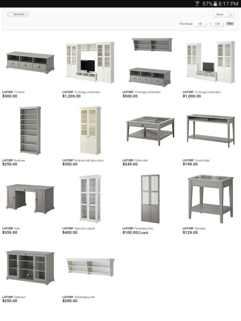Ikea Liatorp Series Prices Cad Dream Home Pinterest  # Combinaison Besta Et Liatorp