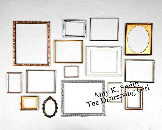 Set of Six Picture Frames Ready To Hang With Glass and Backing ...