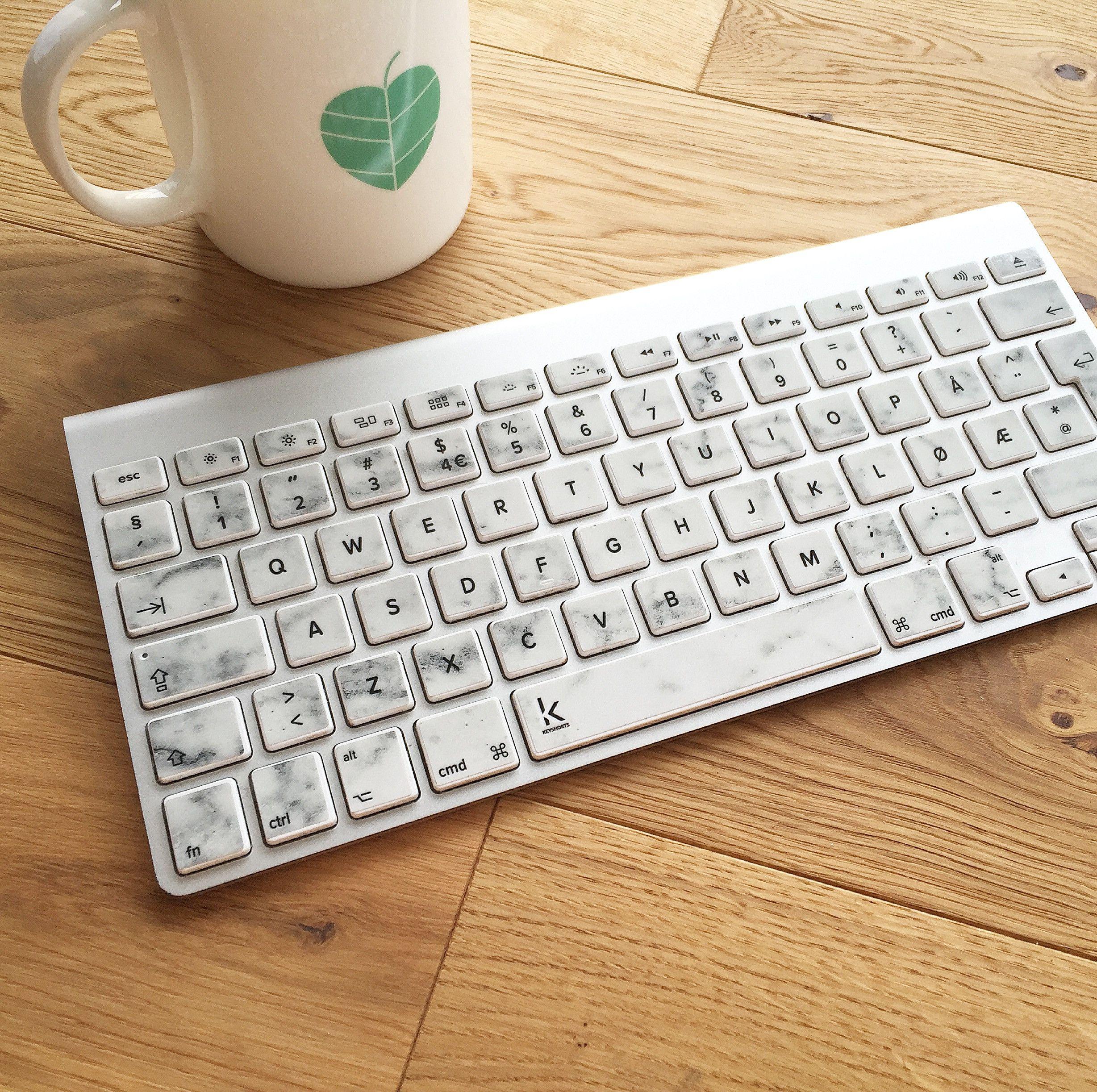 White Marble MacBook Keyboard Decal | Macbook keyboard decal, White ...