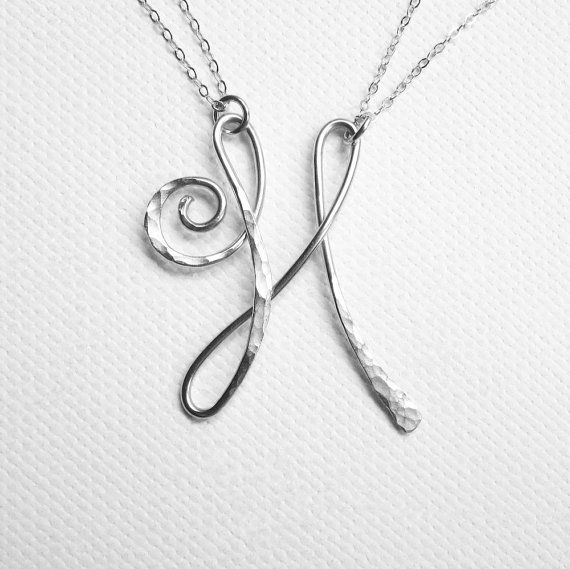Sterling Silver Filled Letter H Personalised Pendant Chain Necklace Gift