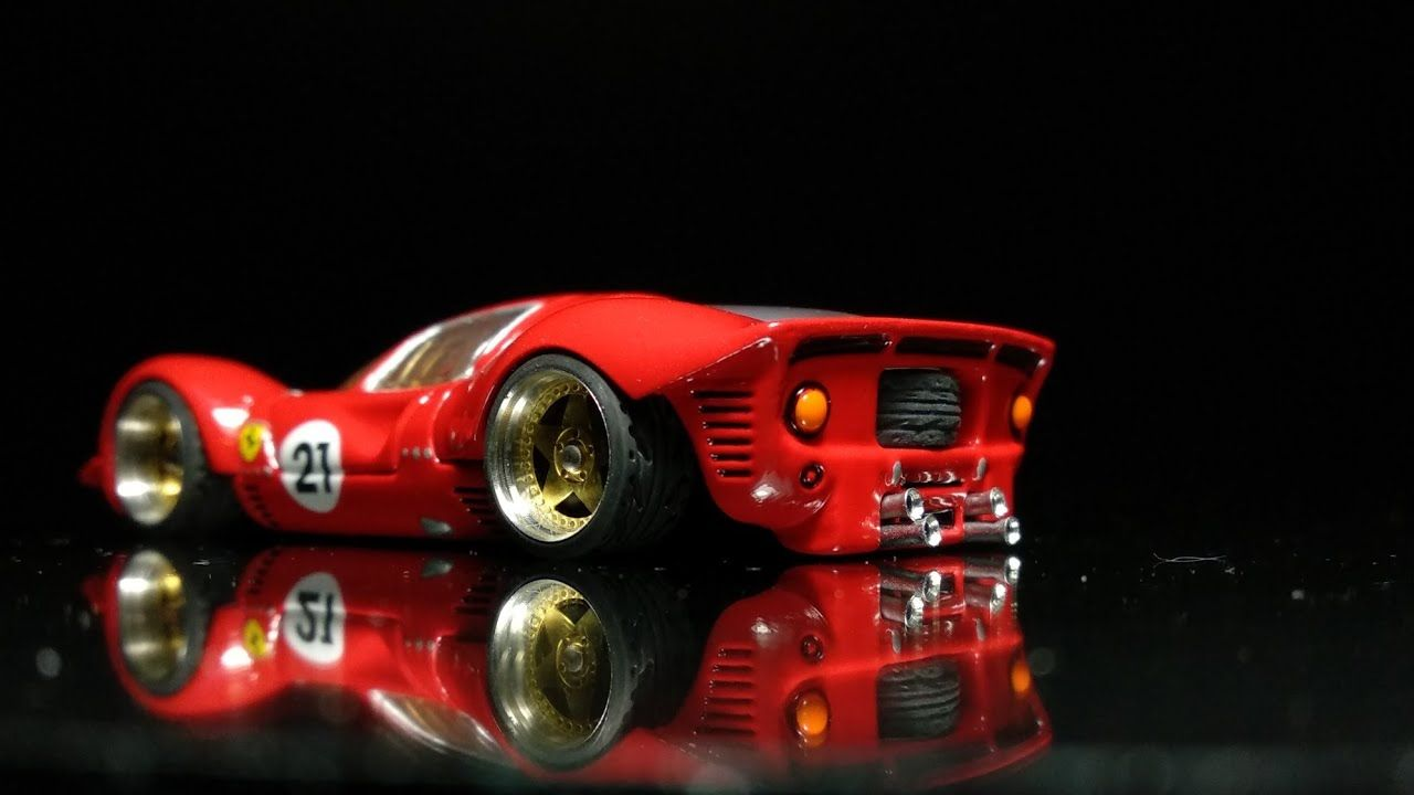 Hot Wheels Custom Ferrari 330 P4 Ford V Ferrari Youtube Hot