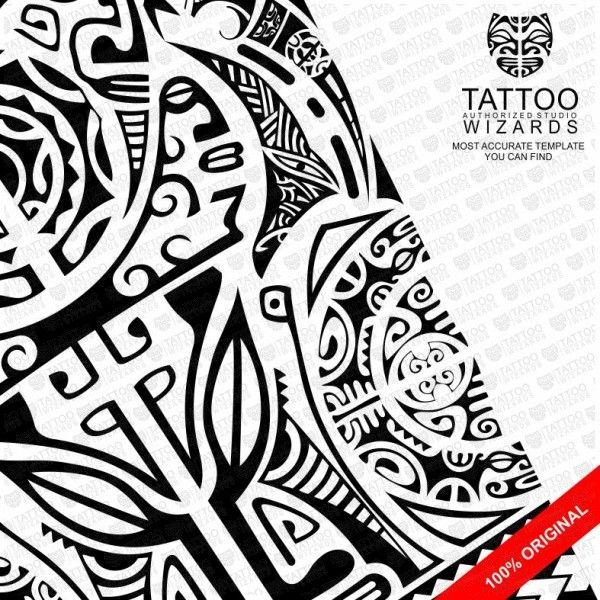 Maori Warrior of Fury Vector Tattoo Template Stencil - Tattoo - tattoo template