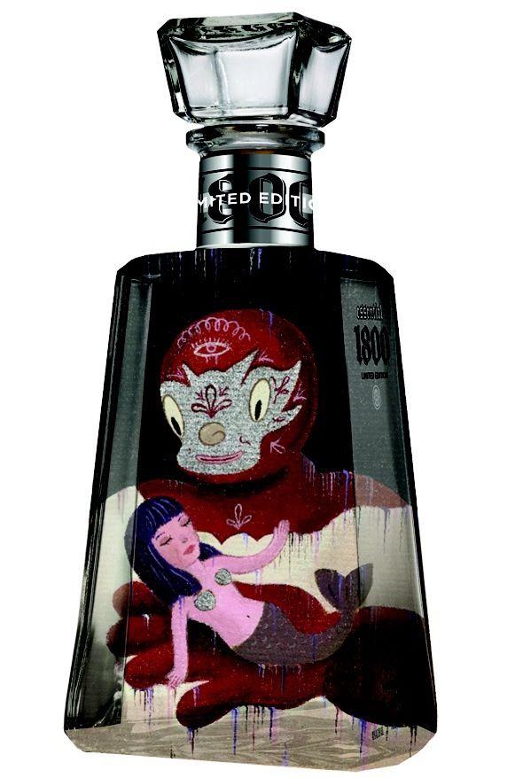 Genial diseño de botella.