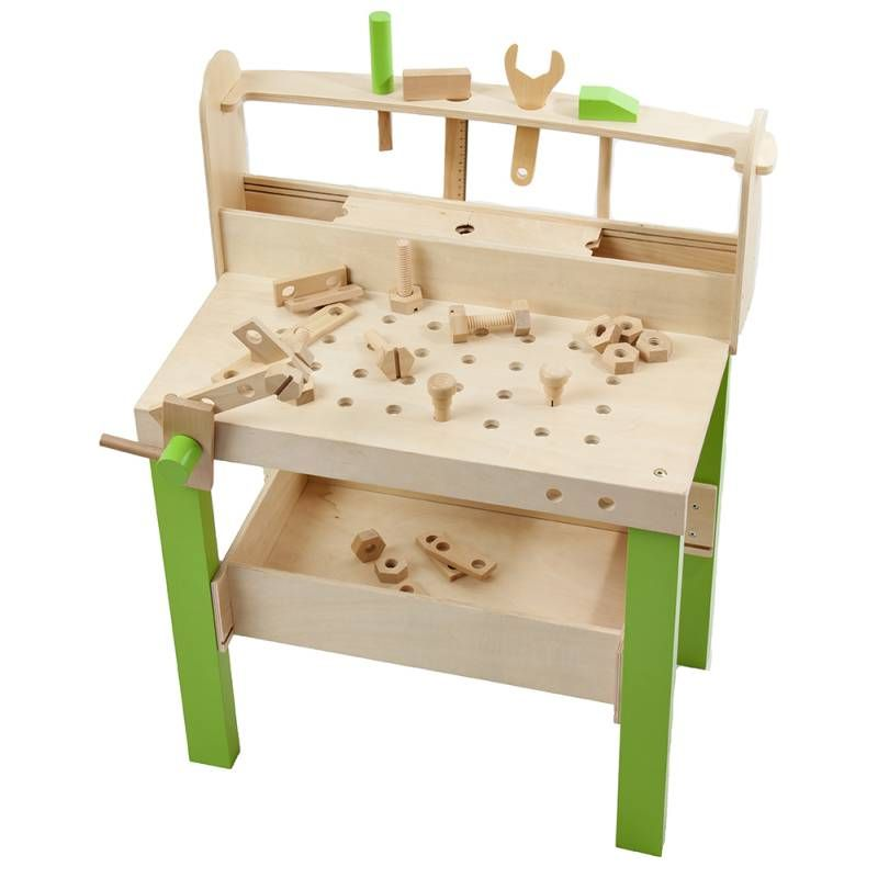 Plum Kids Wooden Educational Toy Tool Bench Creche