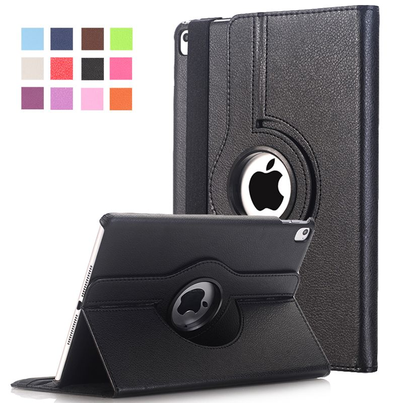 $13.32 (Buy here: http://appdeal.ru/3udo ) Cover For Apple iPad Pro 9.7 inch Case PU Leather Flip Smart Stand 360 Rotating Brand Case Cover w/Screen Protector Film+Stylus for just $13.32