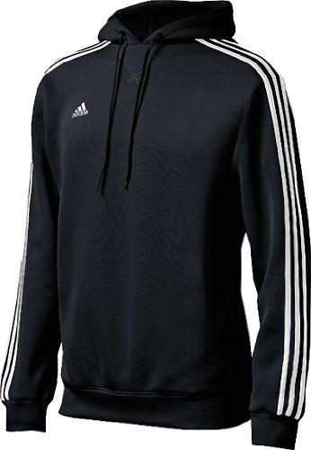 adidas Men's Pindot Hood, Black/White $49.99