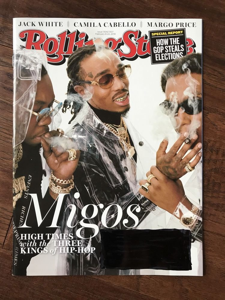 Migos Rolling Stone Interview Talks Cardi B Wedding: ROLLING STONE MAGAZINE MIGOS KING OF HIP HOP DOUBLE ISSUE