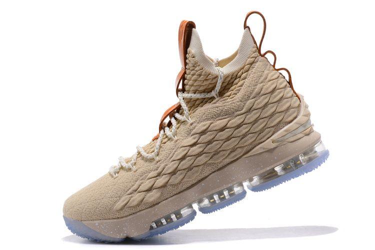 online retailer 67141 ce824 2018 Genuine Nike LeBron 15 XV EP Ghost String Vachetta Tan-Sail 2018 Mens  Basketball Sneakers 897648-200