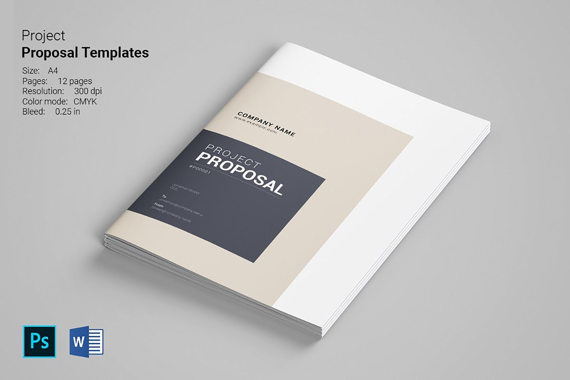 Business Proposal Print Template Photoshop Ms Word Etsy In 2021 Proposal Templates Brochure Design Template Brochure Template - ms word proposal template