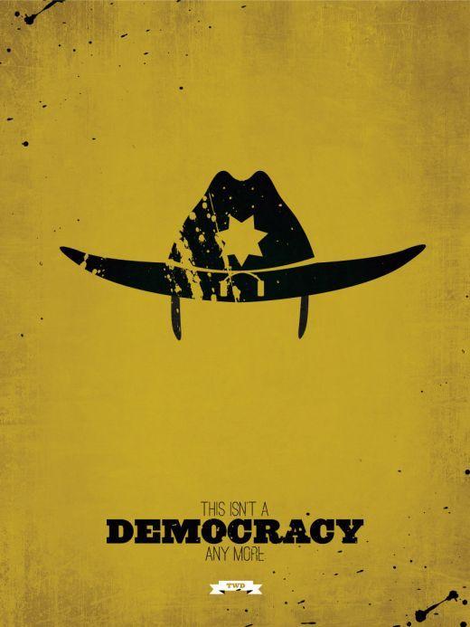 The Walking Dead Democracy Iphone Wallpaper The Walking Dead Poster Walking Dead Fan Art Walking Dead Wallpaper