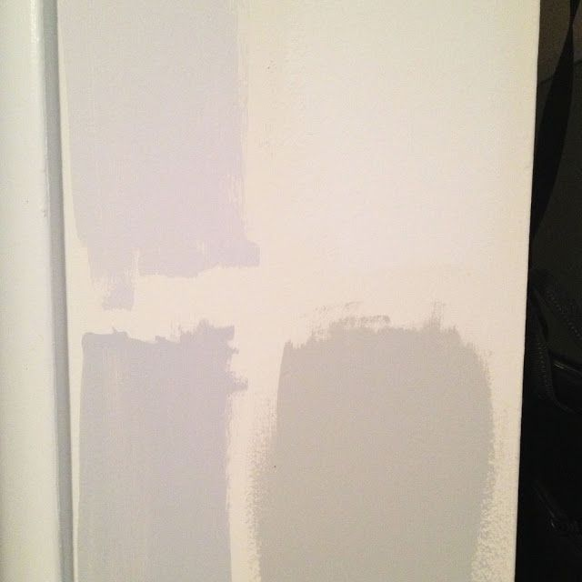 Left Behr Subtle Touch And Silver Screen Purple Undertones Top Right Light Gray On The Swatch But Is Actually Pure White Bottom Dolphin Fin