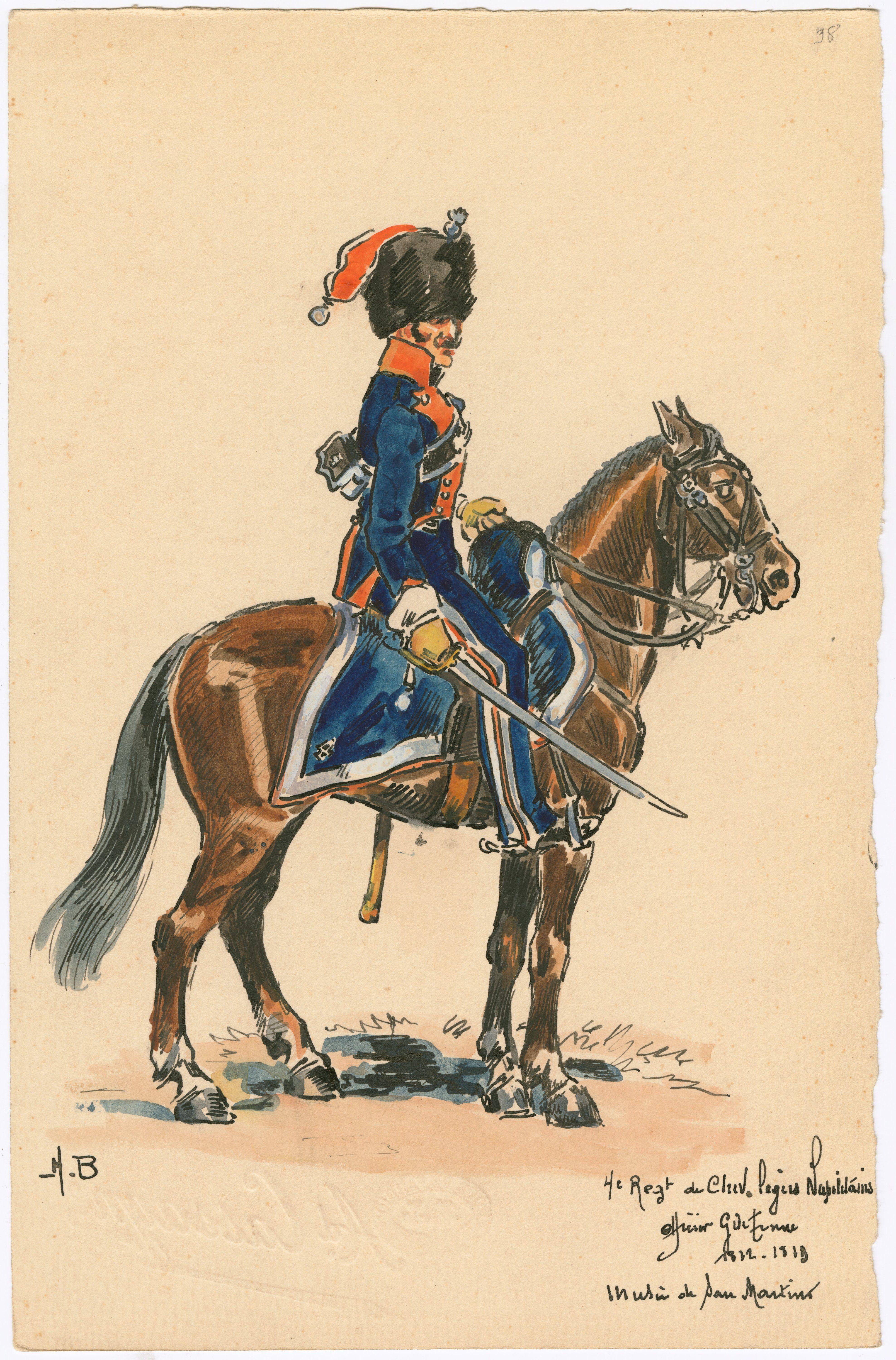 Kingdom of Naples; 4th Regt, Cheveau Legers, Officer, Grande Tenue, 1812-13