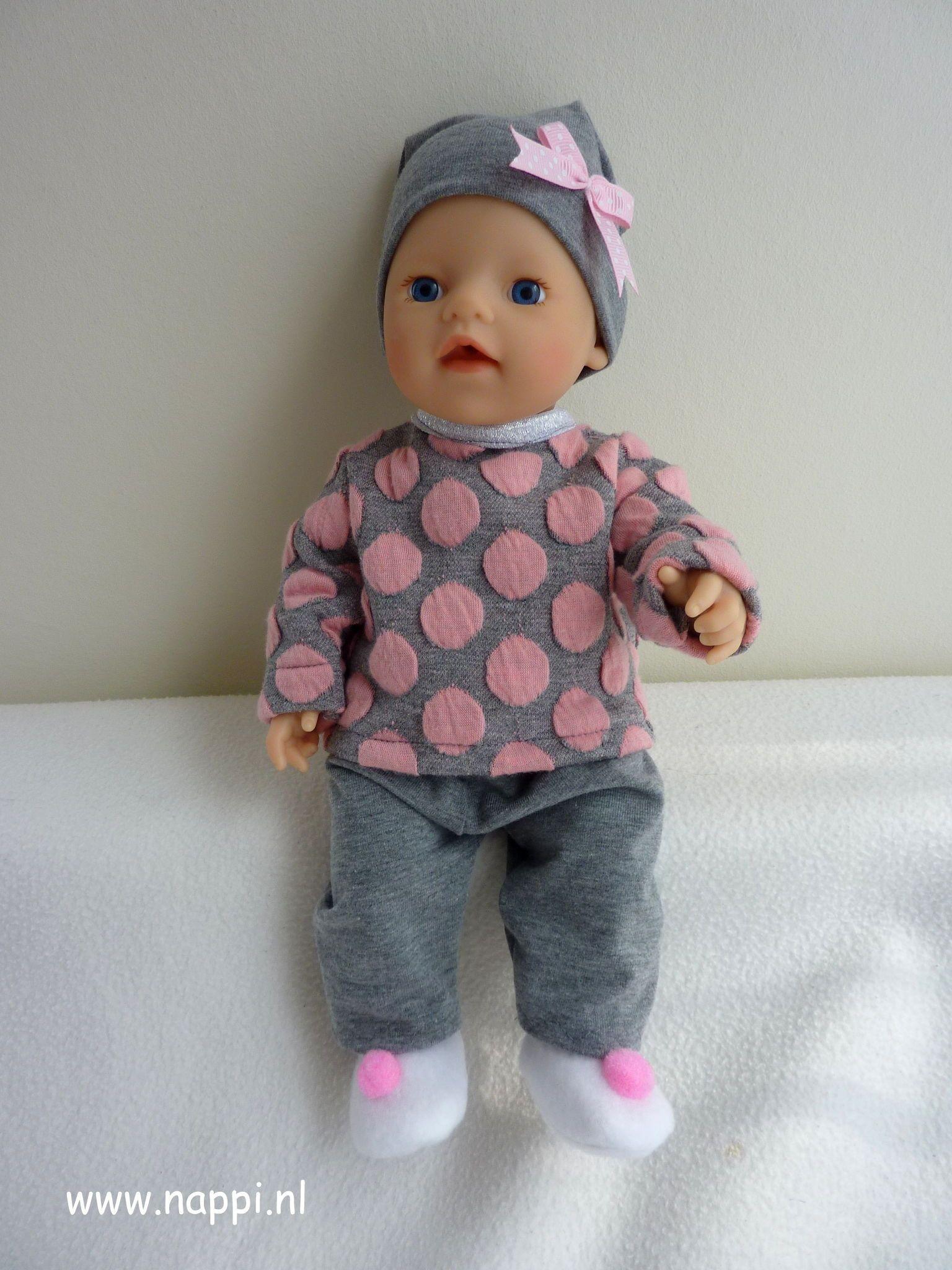 Babypuppen & Zubehör Puppenkleidung 36cm Blau Pink little Baby Born Set Kleider Kleidung Klamotten