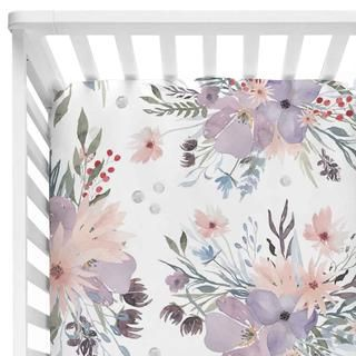 Photo of Rowan's Dusty Purple Bouquet – Changing Pad Cover~