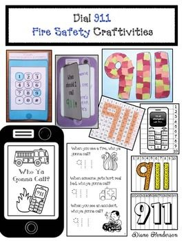 Fire Safety Activities: 911 Crafts #911craftsfortoddlers