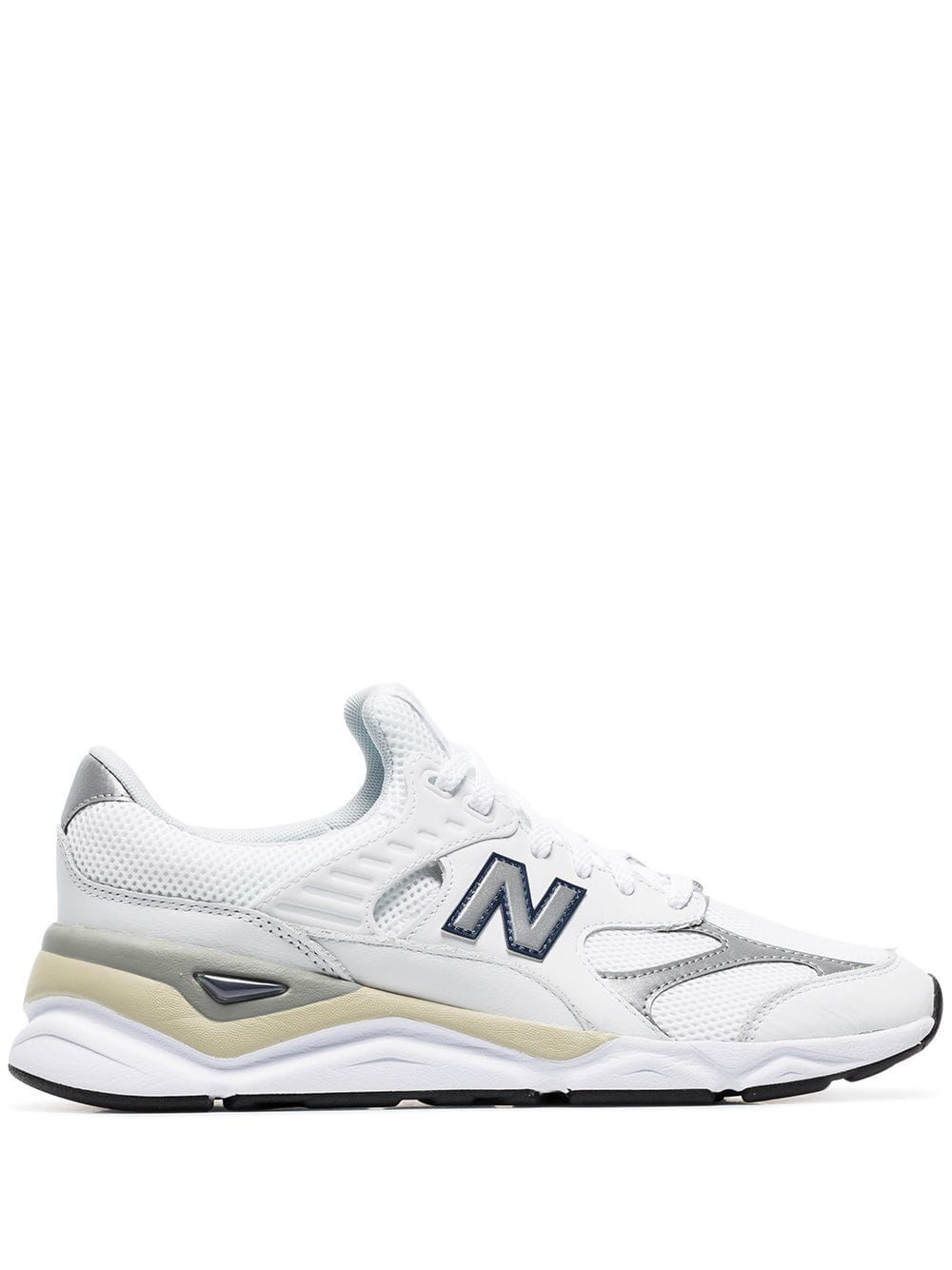 262c131c1e NEW BALANCE NEW BALANCE WHITE X90 LEATHER LOW-TOP SNEAKERS ...