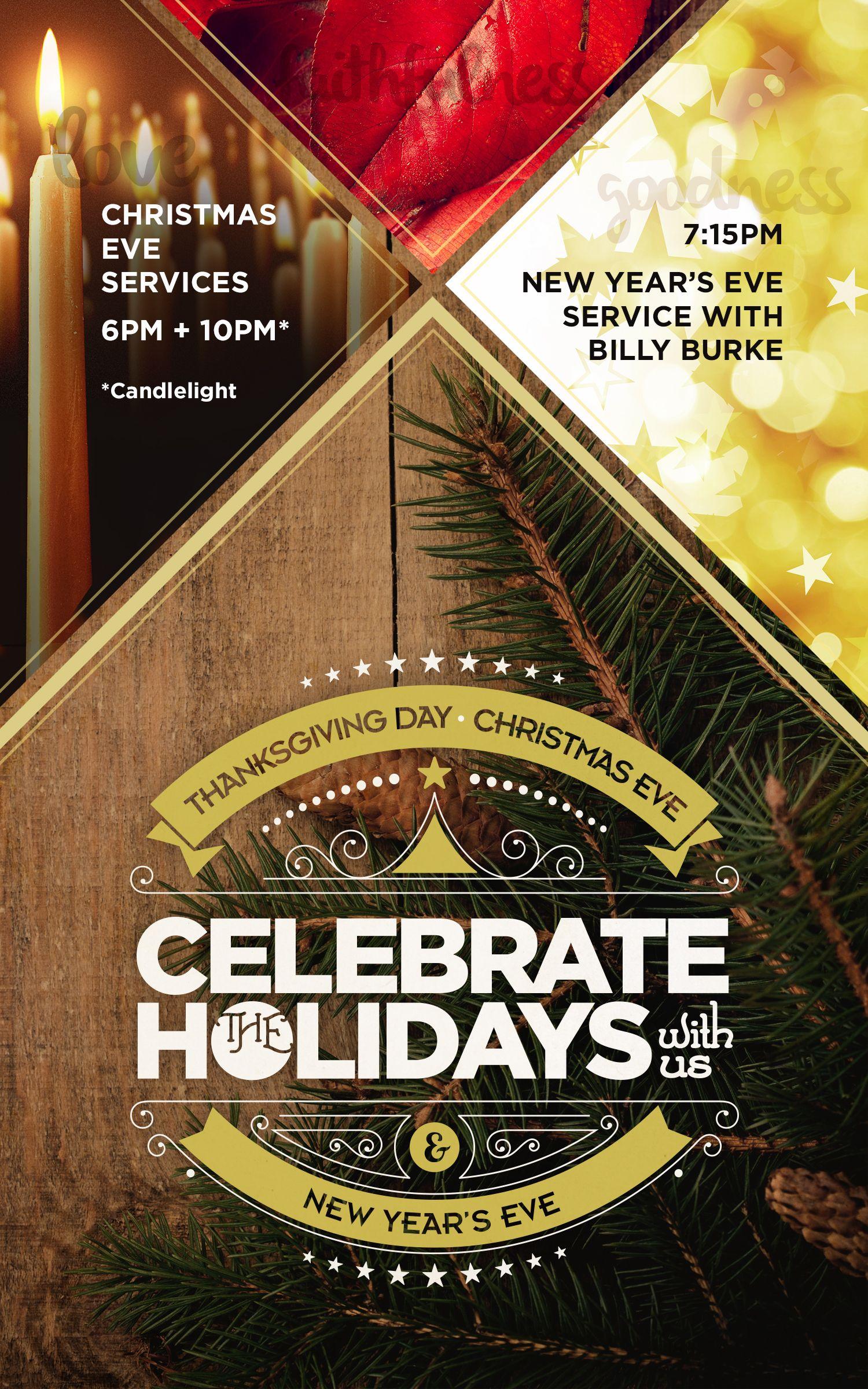 Holidays at FHC! | Sermon series, New years eve, Christmas eve
