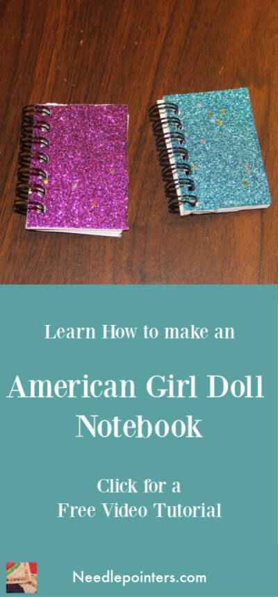 Doll Notebook - How to make a doll notebook #dollaccessories