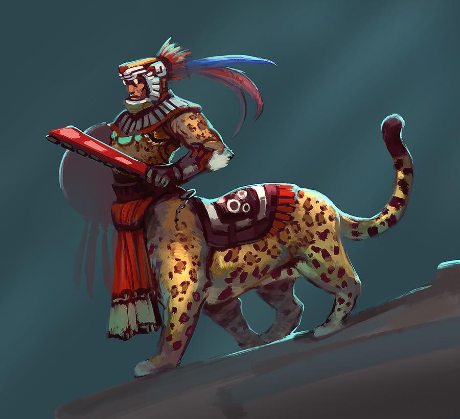 Jaguar Warrior By Noe Leyva On Deviantart Aztec Warrior Character Art Aztec Art