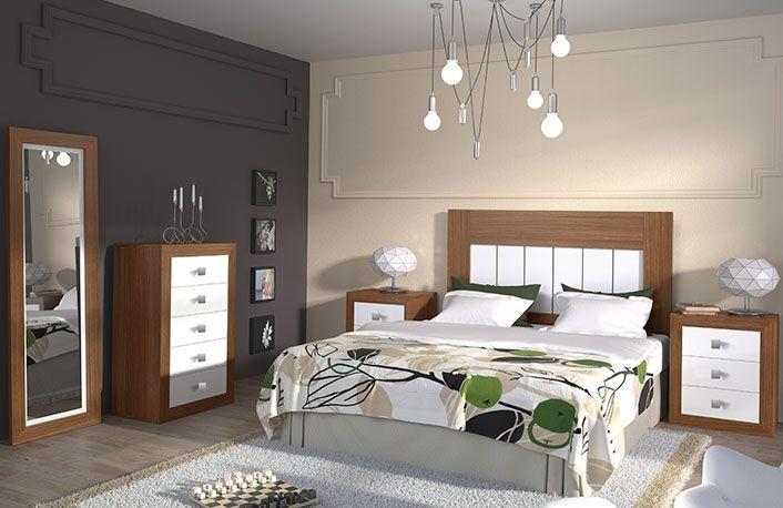 Matrimonio Bed Queen : Dormitorio matrimonio con sinfonier nogal غرف نوم home decor