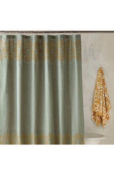 John Robshaw Ajrak Shower Curtain Gold Shower Curtain Elegant