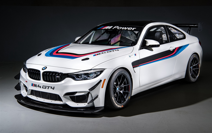 Download Wallpapers Bmw M4 Gt4 2018 4k Racing Car Sports Car