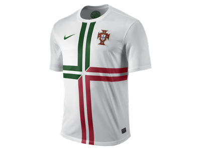 57fc99a988 Nike Portugal Away Soccer Replica Jersey (Football White Pine Green GymRed)