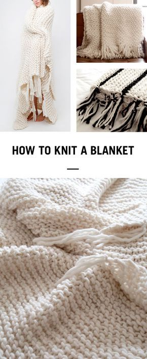 Learn how to knit a cosy woollen blanket in next to no time using ...
