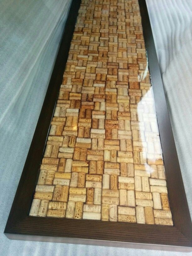 Cork bar top coated with epoxy resin by fogliart for Wine cork bar top