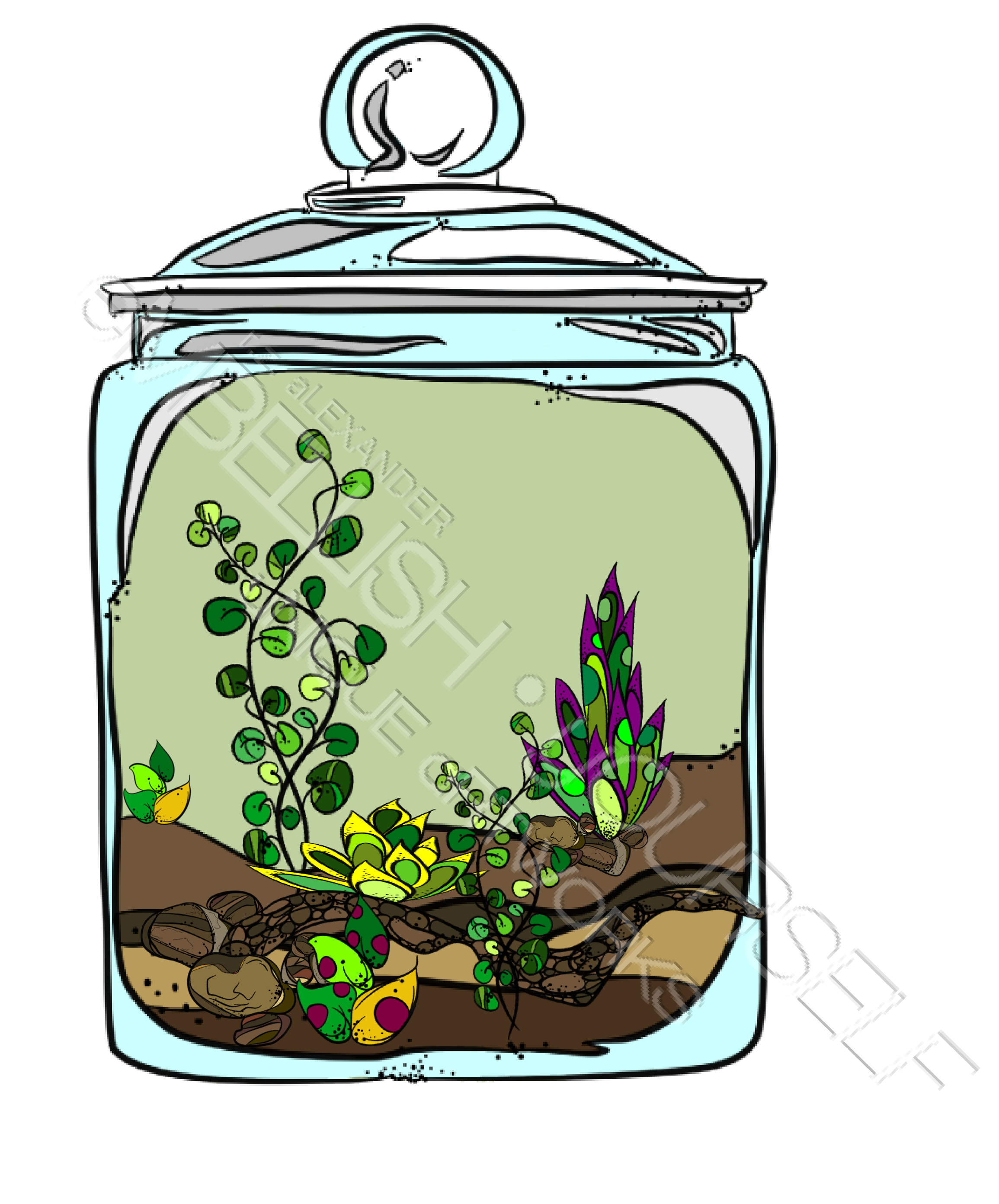 A Terrarium Made With Rz Alexander S Clipart
