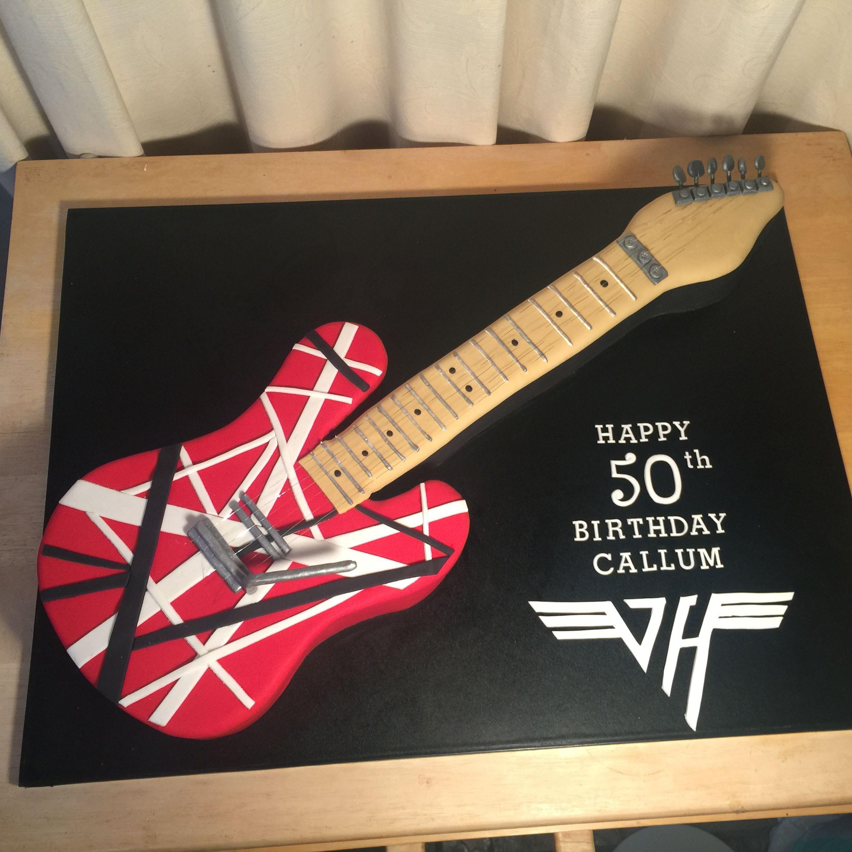 Van Halen Guitar Cake Guitar Cake Guitar 50th Birthday