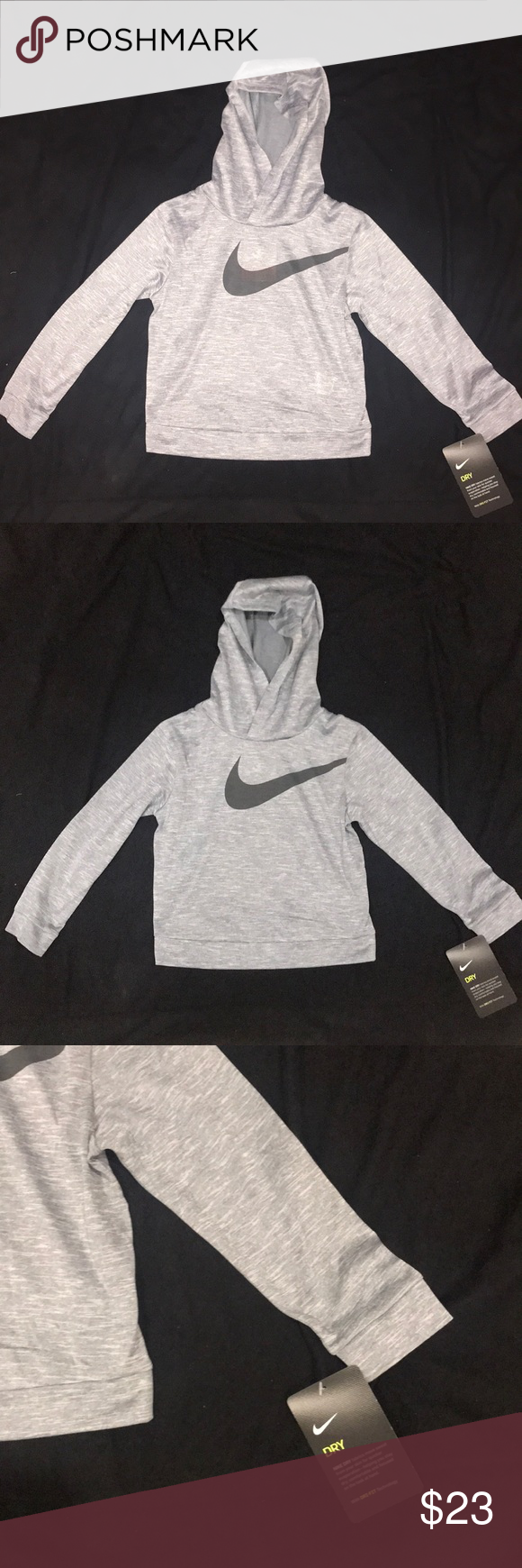 c20aed502d NWT Nike Boys Gray Dri-Fit Hoodie Shirt Toddler 2T Brand new with tags. Nike  Dr-Fit Hoodie Shirt. Super light weight and soft. Size 2 Nike Shirts & Tops  ...