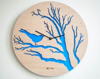 Good Handmade Wall Clock Tree Leaves The Inspiration For This Watch Was Found In  Tree Leaves :