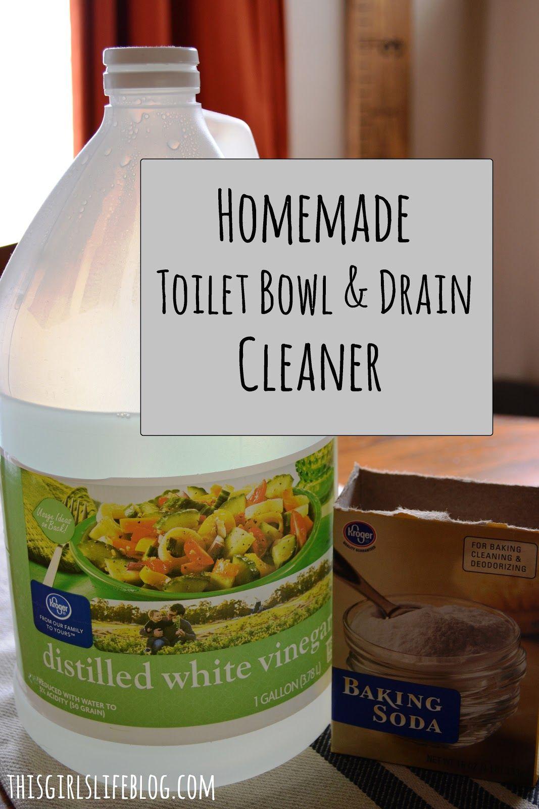 Homemade Toilet Bowl & Drain Cleaner Drain cleaner