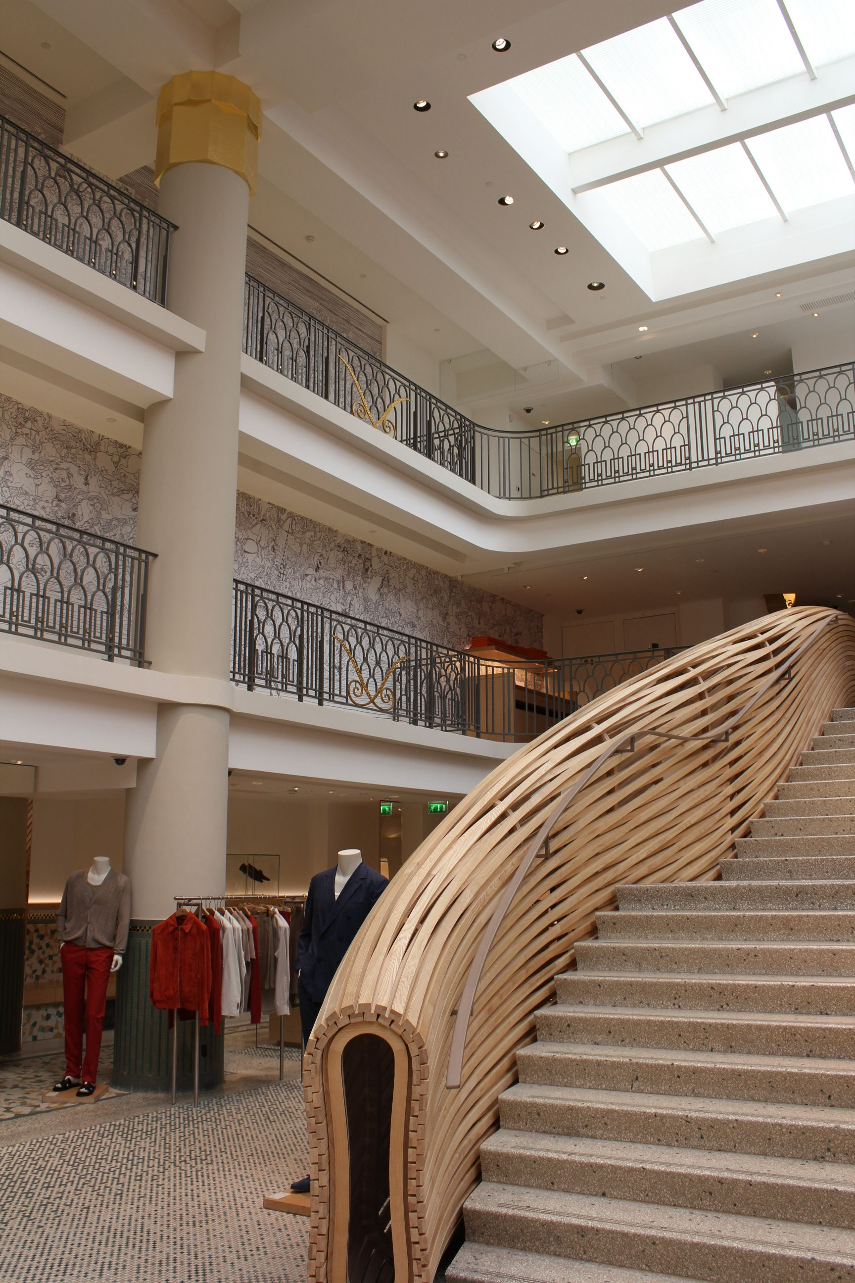 hermes boutique, used to be The Piscine Lutetia in Paris   stairs ... 9ecdaf4d9ea