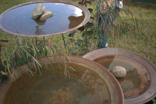 Floating Steel Stand Bird Bath | Mallee Bird Baths and Water Bowls ...