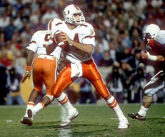 Vinny testaverde in the play against miami dolphins