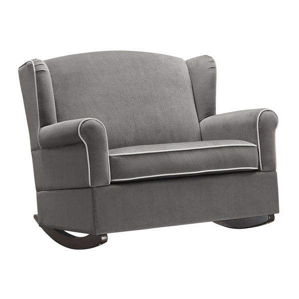 Spanning Just Under 40 Wide This Generously Sized Chair And A Half Provides Plenty Of Room For You And Your Li Chair And A Half Nursery Rocker Wingback Chair