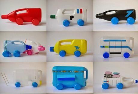 Juguetes con Botellas de Plástico Reciclado