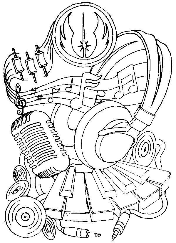 Art Thérapie Musique Coloriage Musique Cahier Musique Décoration