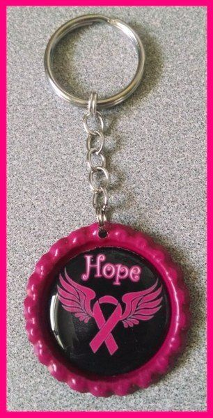 Pin By Kimberly Scott On My Cancer In 2020 Bottle Cap Cancer Awareness Bottle Cap Crafts