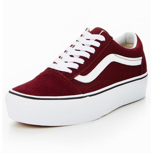 vans old skool platform red