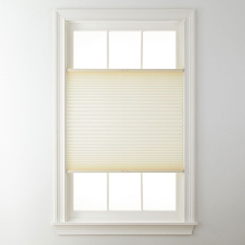 Jcpenney Home Top Down Bottom Up Cordless 1 Linen Pleated Shade Free Swatch Cordless Pleated Shades Pleated Shade Shades Blinds