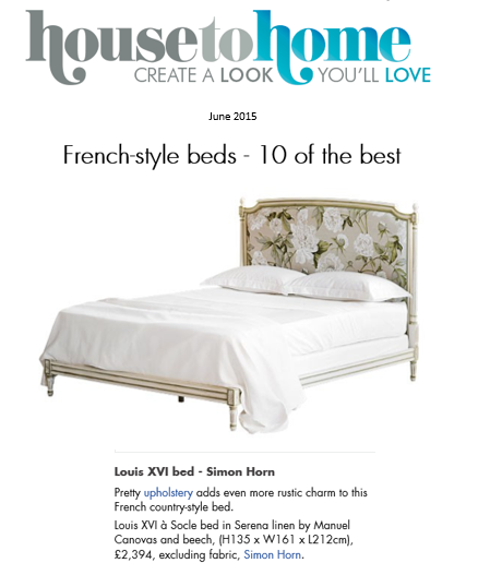 Louis XVI bed from Simon Horn simonhorn.com http://www.housetohome.co.uk/product-idea/picture/french-style-beds-10-of-the-best/4