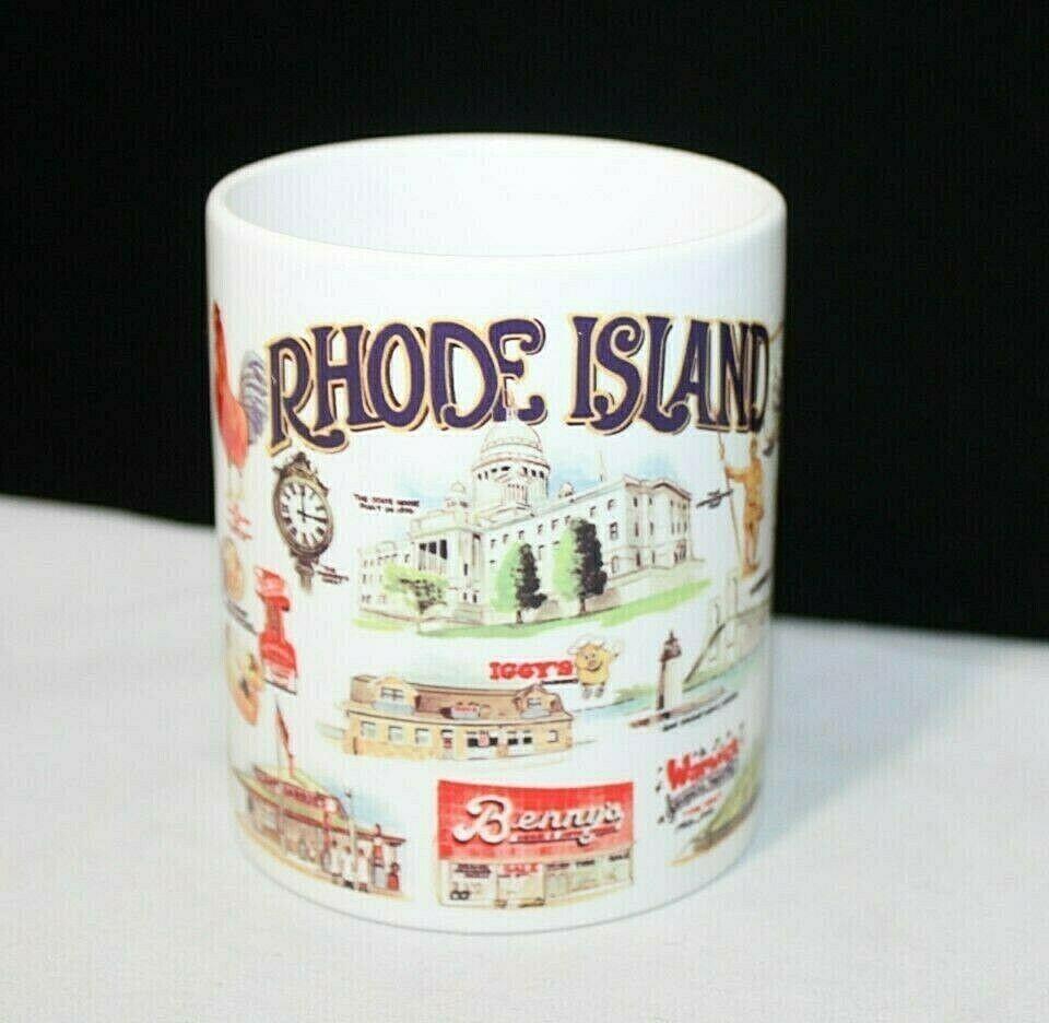 Vintage Rhode Island Nostalgic 12 Oz Coffee Mug By Orca Coatings Tourist Orcacoatings Mugs Coffee Mugs Rhode Island
