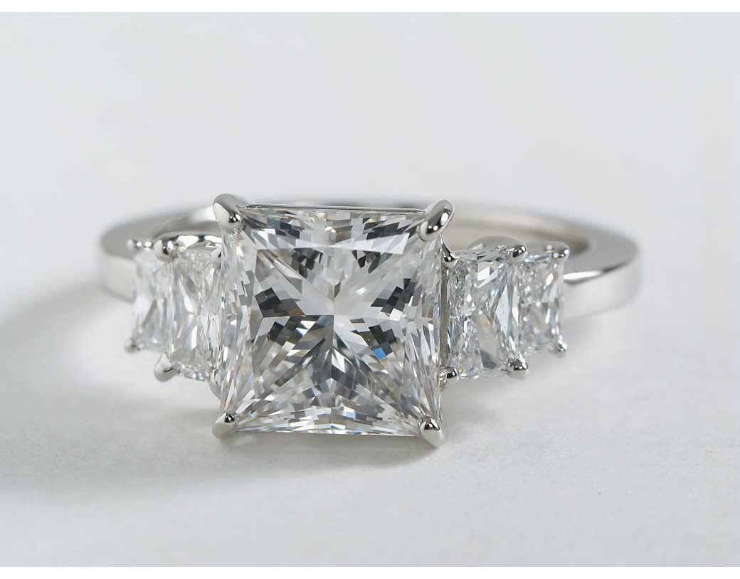 372 Carat Diamond Four Stone Square Brilliant Diamond Engagement Ring   Blue Nile Engagement Rings