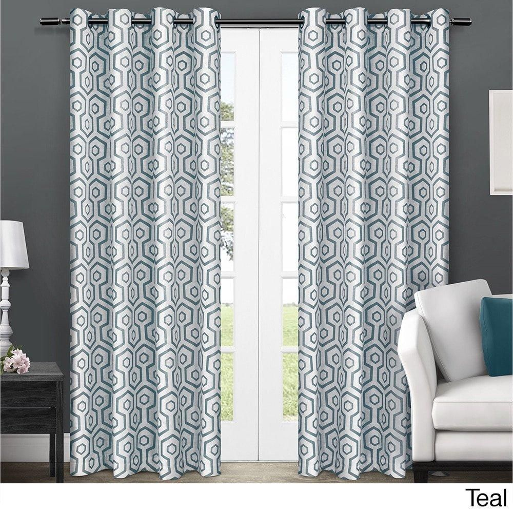 curtains pair home free top product inch panel moroccan garden x grommet curtain shipping today overstock aurora sheer